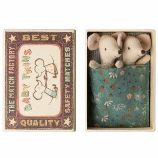 Maileg Twin Mice in Matchbox