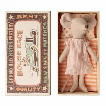 Maileg Big Sister Matchbox Mouse in Nightdress