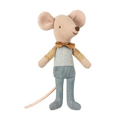 Maileg Little Brother Matchbox Mouse with Bowtie