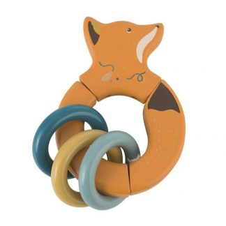 Moulin Roty Olgas Travel Wooden Fox Rattle