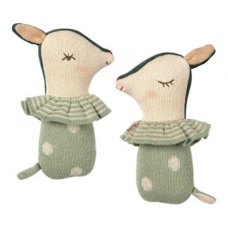 Maileg Bambi Rattle Mint Green