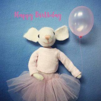 Pippi & Me Ballerina Mouse Card