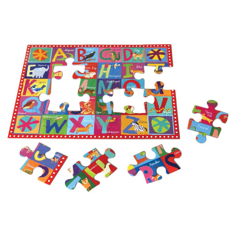 Animal Alphabet 20 Piece Puzzle by eeBoo
