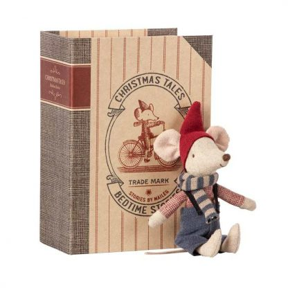 Maileg Big Brother Christmas Mouse in Book