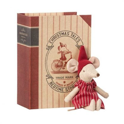 Maileg Big Sister Christmas Mouse in Book