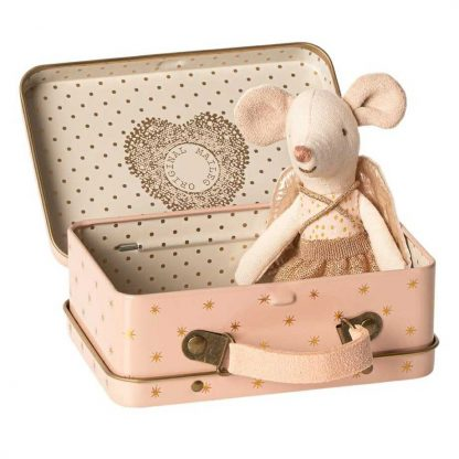 Maileg Guardian Angel Mouse in Travel Tin