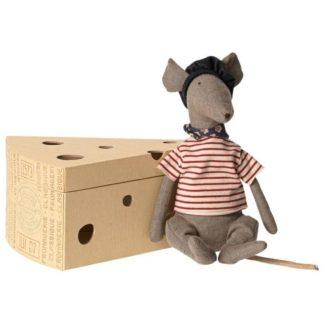 Rat in Cheese Box Grey