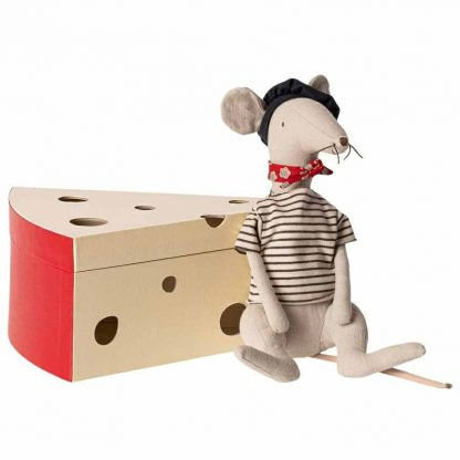 Rat in Cheese Box Light Grey