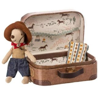 Maileg Cowboy Mouse in Travel Tin