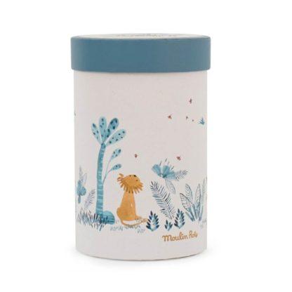 Sous mon Baobab Paprika Lion Soft Toy Box