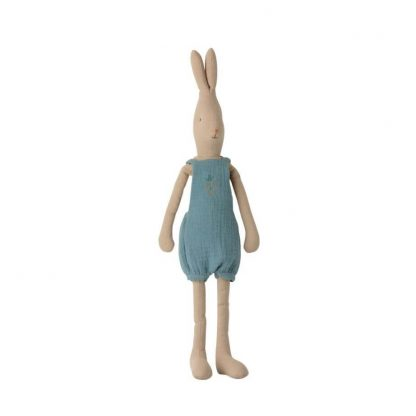 Maileg Size 3 Rabbit in Teal Romper Suit