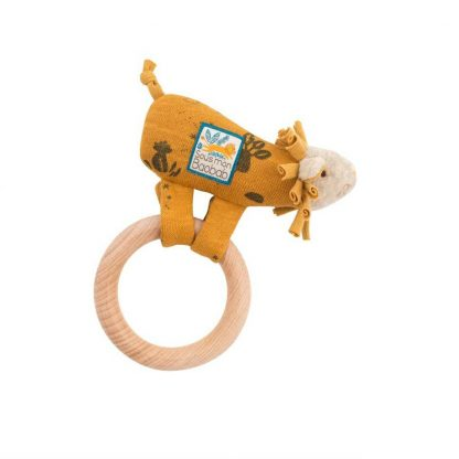 Sous mon Baobab Paprika Lion Ring Rattle