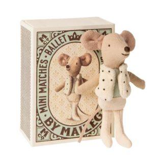 Maileg Little Brother Matchbox Dancer Mouse