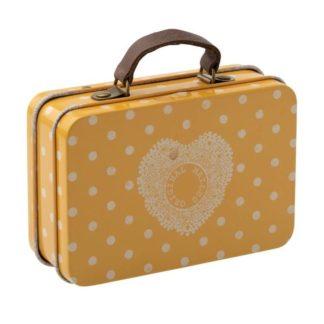 Maileg Metal Tin Suitcase Yellow