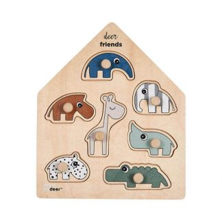 Peg Puzzle Deer Friends Colour Mix