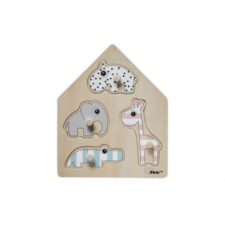 Peg Puzzle Deer Friends Stripy