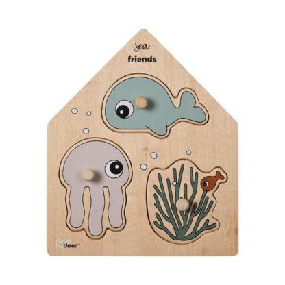 Peg Puzzle Sea Friends Colour Mix