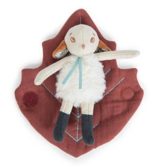 Moulin Roty Chataigne Sheep in a Leaf